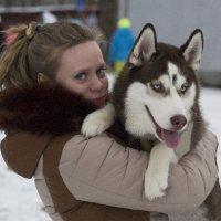 Дама с собачкой. :: D. Matyushin.