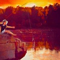 Рыбачка Соня :: Наталья Чекина