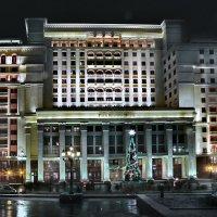 моя столица ночная москва(бывшая гостиница москва) :: юрий макаров