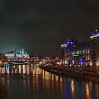 моя столица ночная москва(вид на кремль и театр эстрады) :: юрий макаров