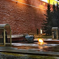 моя столица ночная москва(пост №1 у вечного огня) :: юрий макаров