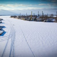 порт на реке Самара :: Арсений Корицкий