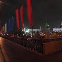 моя Столица ночная Москва(вид на Кремль и мост) :: юрий макаров