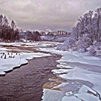 река Тихвинка :: Сергей Кочнев