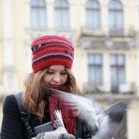 Девушка и голуби :: Владимир Л