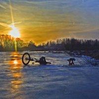 Зимнее утро на рыбалке :: Александр Головко