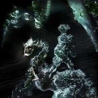 Дракон с  наездником! ))          ледышки на моём окне :: Удивительное Рядом