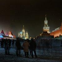 моя Столица ночная Москва(вид на Красную площадь) :: юрий макаров