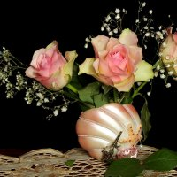 Натюр с розами. :: Татьяна Беляева