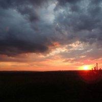 Закат на Оке. :: Наталья Лебедева
