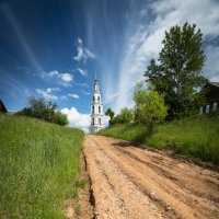 Колокольня в селе Тетеринское. Костромская область :: Антон Лебедев