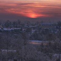 И вертикаль морозного заката :: Александр | Матвей БЕЛЫЙ