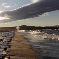 замерзающий пляж и шторм :: василиса косовская