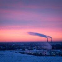 Завод на восходе :: Антон Лебедев