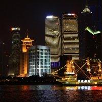 Огни ночного города. Шанхай. :: Полина Polli