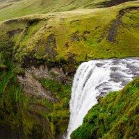 Водопад Скогафосс в Исландии (вид сверху) :: Вячеслав Ковригин