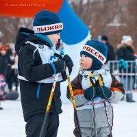 Самый маленький участник лыжни России 2014 в Санкт-Петербурге :: Владимир Бриг