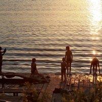 Вечернее купание на Соку :: Валерий Князькин