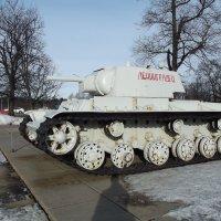 Тяжелый танк КВ-1 обр.1939 года в зимнем камуфляже :: Сергей Кочнев
