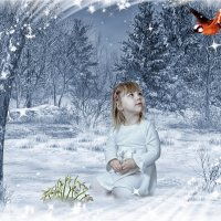 Снегурочка...ей не холодно... :: Елена Черненко