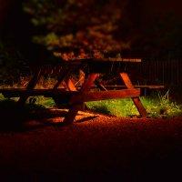 ночная скамейка :: Аркадий Алямовский