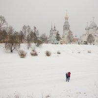 Берег реки Вологда в туманной дымке :: Татьяна Копосова