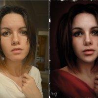 портрет незнакомки (до и после) :: Veronika G