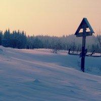 Салаир. Зима. Поклонный крест вблизи часовни Кирики и Иулиты... :: Navaho Indeec