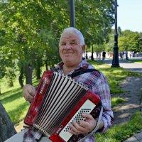 Не жизнь, а песня, когда в его руках звучит аккордеон! :: Виталий Половинко