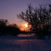 Февральский закат :: Евгений Юрков