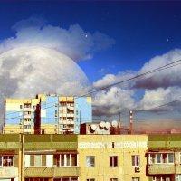 Вид из окна. Урбанистический пейзаж. :: Елена Гриненко