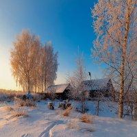 Зимне-деревенская, вечерняя... :: Александр Никитинский