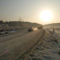 на фоне восходящего солнце :: Сергей