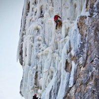 Маршрут по ледовой стене :: Boris Khershberg