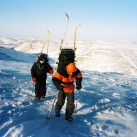 Идём по плато Путорана температура -50 :: Сергей Карцев