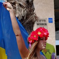 акция протеста у российского посольства в Тель - Авиве :: Евгений Мельников