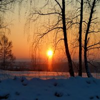 Морозный закат. :: Наталья Юрова