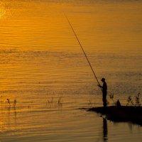 Рыбак на закате :: Сергей Шинкевич