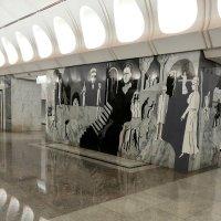 Фреска станции метро    Достоевская :: Владимир Прокофьев