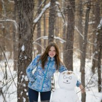Снеговик-Гарри Поттер :: Екатерина Пайвина