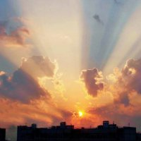 Восход над Мытищами :: Валерий Антипов
