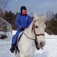 Белая лошадь :: Сергей Комков