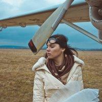 Небо Девушка Самолет :: Елена Сорокина