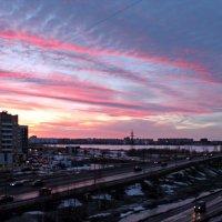 Северодвинск. Закатное небо :: Владимир Шибинский