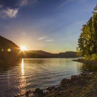 Телецкое озеро на закате :: Ольга Волкова