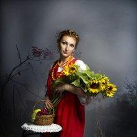 девушка с подсолнухами :: Инна Пантелеева