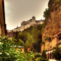 вид на крепость Хоэнзальцбург :: Александр Корчемный