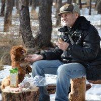 Охотники на привале. :: Федор Чернышев
