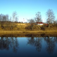 вечер на реке Тихвинке :: Сергей Кочнев