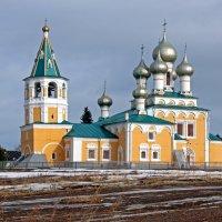 Русский Север. Село Матигоры. Церковь Воскресения :: Владимир Шибинский